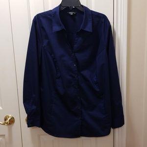 George navy blue blouse sz 3X (22-24W)
